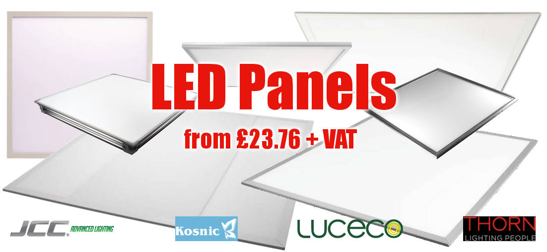 LED Panels from £30.52 +VAT