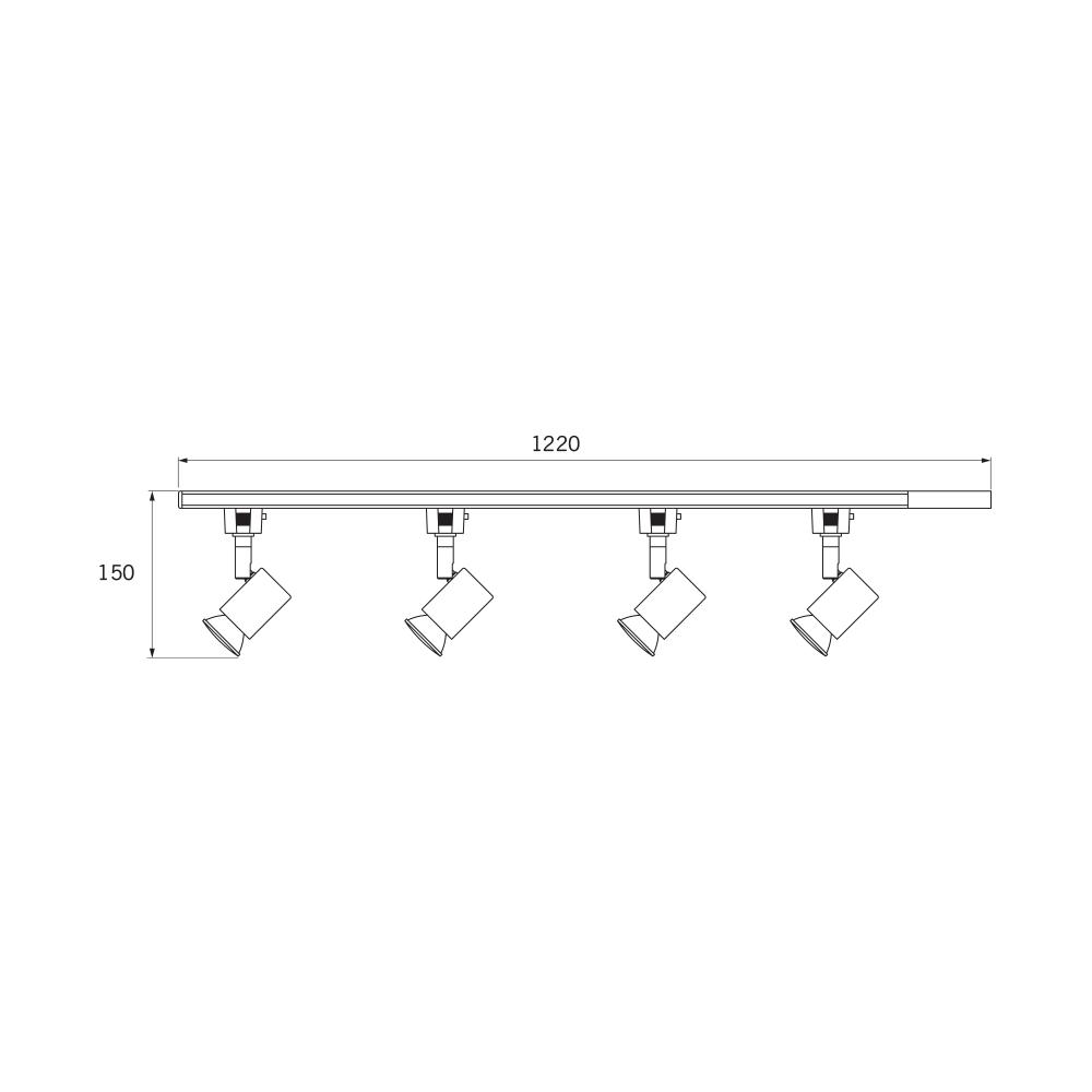 Jcc 4xgu10 Track Lighting Kit: JCC JC14048BLK Halogen Track Kit With Four Spotlights