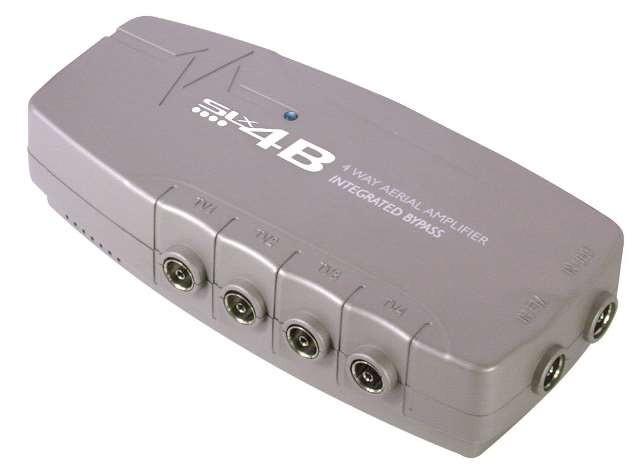 SLx 4-Way TV Signal Booster - 4G Compatible