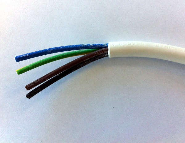 4 Core Cable Pvc : Mm² y core heat resisting pvc insulated and