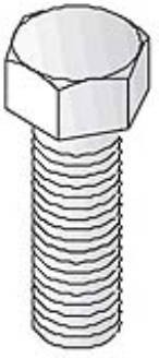 Unistrut Channel 933510X20 Bolt, Hexagon 8.8 High Tensile, Size: M10x20mm