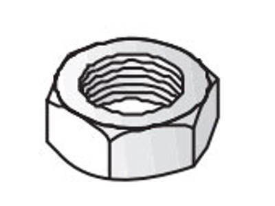 Unistrut Channel 9345M10 Nut, Hexagon, Size: M10