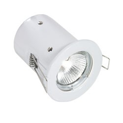 Aurora  240V GU10 Pressed Steel Fixed Square Edge Downlight Fire Protection White (A2-DLM941W)