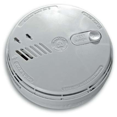 Aico Ei141RC Ionisation Smoke Alarm Mains Powered with Battery Backup