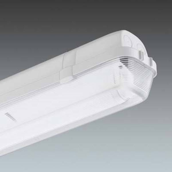 Thorn AQ236Z Luminaire, Twin H/F IP65 c/w Polycarbonate, Diff & T26 840 Lamps