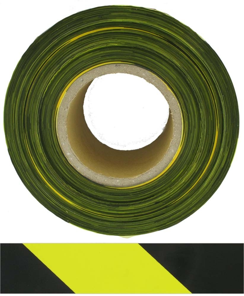 BTY Barrier Tape Non Adhesive 75mmx500m Yellow/Black -Buy online or in store from John Cribb & Sons Ltd