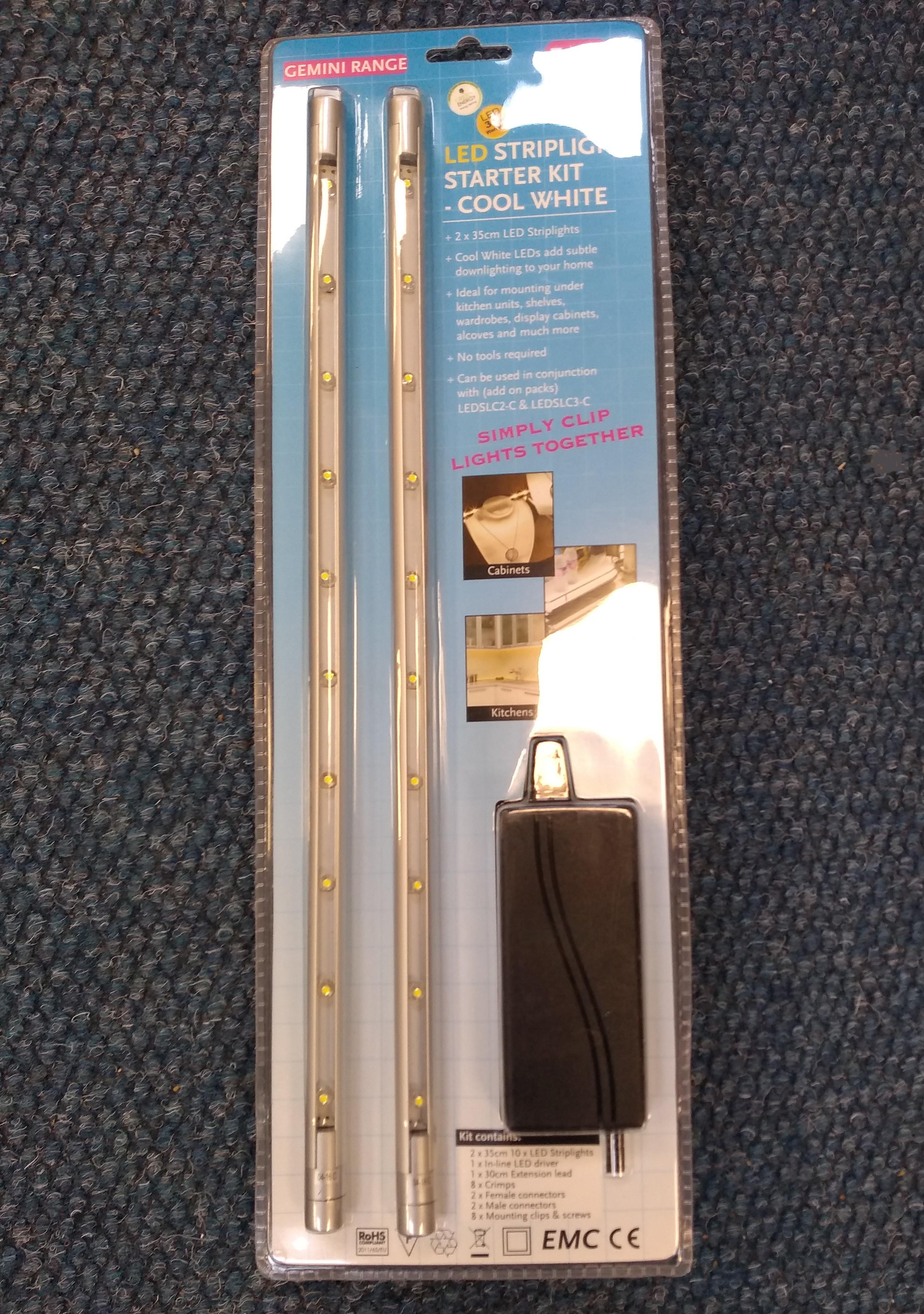 GreenBrook KingShield LEDSLC1-C LED Striplight Starter Kit- Cool White - Buy online or in store from John Cribb & Sons Ltd