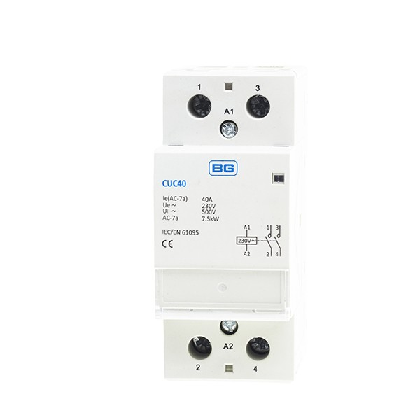 Luceco/British General CUC40 40A Double Pole Contactor   - Buy online or in store from John Cribb & Sons Ltd