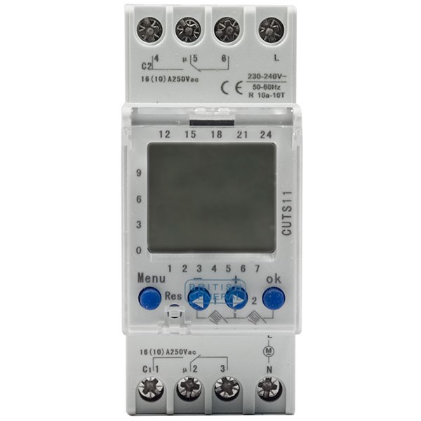 Luceco/British General CUTS11 2 Channel Digital Timer - Buy online or in store from John Cribb & Sons Ltd