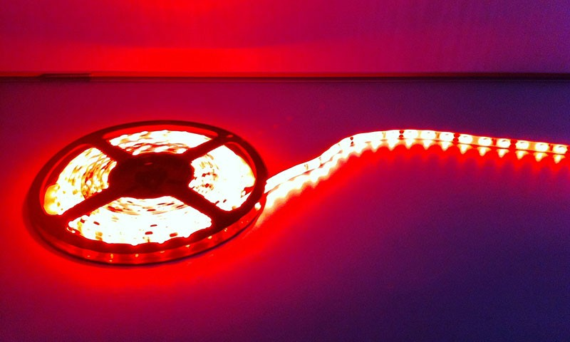 Deltech LST60R 5m Roll Flexi LED Strip 12V 60LED/M 240lm/M IP65 Red, 4.8W per metre