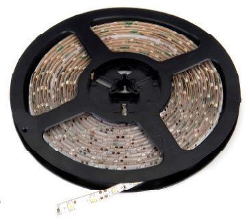 DELTECH LST65WW 5M ROLL FLEXI LED STRIP 12V 60LED/M 330LM/M IP65 WARM WHITE, 6.36W PER METRE