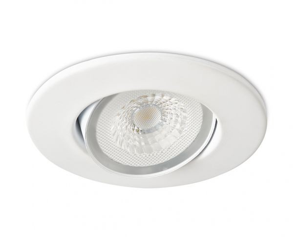Collingwood DL490MW5530 H4 Lite 4.4W 3000K IP65 55° Adjustable LED downlight with bezel & Easy-Fit Connector - Buy online or in store from John Cribb & Sons Ltd