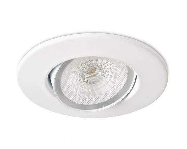 Collingwoood DL490MW5540 H4 Lite 4.4W 4000K IP65 55° Adjustable LED downlight with bezel & Easy-Fit Connector - Buy online or in store from John Cribb & Sons Ltd
