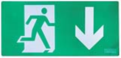 Channel Safety Systems E/PIC/AL/AD Alpine™ Pictogram – Arrow Down - buy online or in-store from John Cribb & Sons Ltd