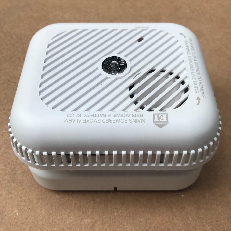 Aico EI136 Mains 230V AC Optical Smoke Alarm - Buy online or in store from John Cribb & Sons Ltd
