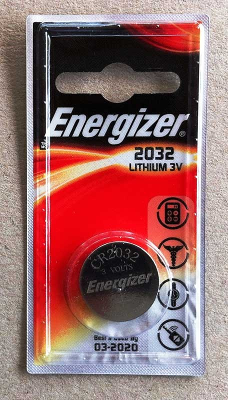 Energizer CR2032 3V Lithium button cell battery