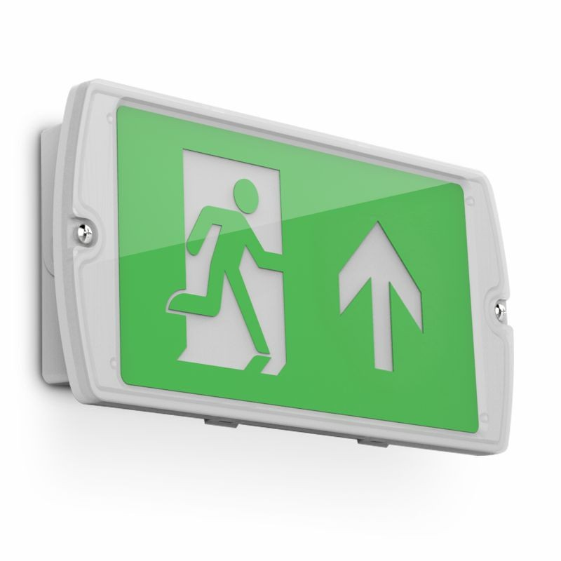 Kosnic ESGN02-PSR Manot, Exit Sign Right - Buy online or in store from John Cribb & Sons Ltd