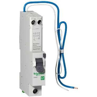 SCHNEIDER ELECTRIC, EZ9D16816, RCBO, SP Type B, 1 Module, Size:16A 30mA 6kA
