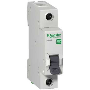 SCHNEIDER ELECTRIC, EZ9F66106, MCB, SP Type C, Size: 6A 6kA
