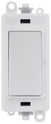 Scolmore GM2002PW GridPro® 20AX 2 Way Switch Module in White  - Buy online or in store from John Cribb & Sons Ltd