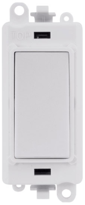 Scolmore GM2018PW GridPro® 20AX Double Pole Switch Module in White - Buy online or in store from John Cribb & Sons