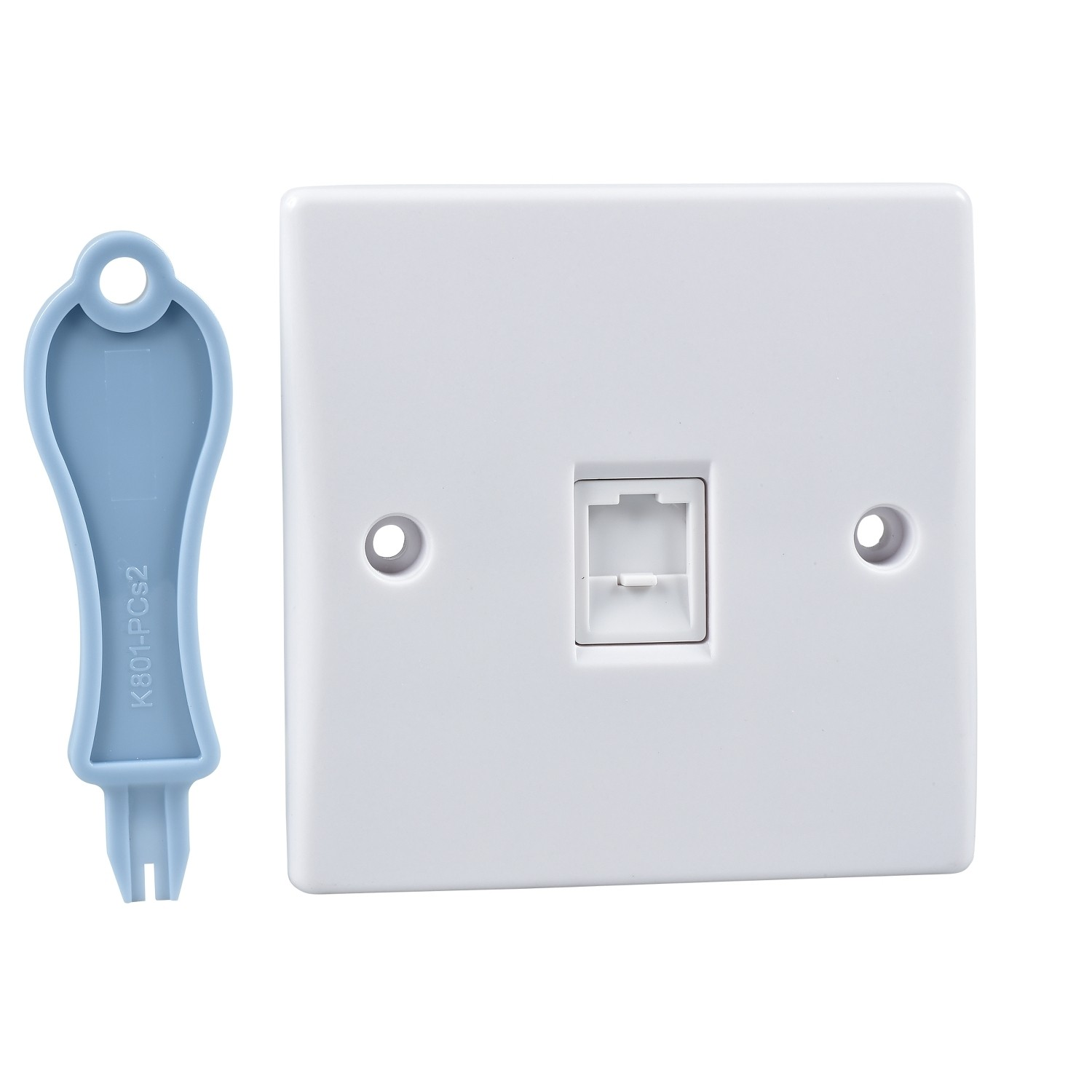Schneider GU7071 Ultimate Slimline 1 Gang Single RJ45 Data Socket