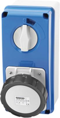 Gewiss GW66211N Socket, 3P+N+E Vertical Interlock, OWB 7H SBF, Size: 16A 500V