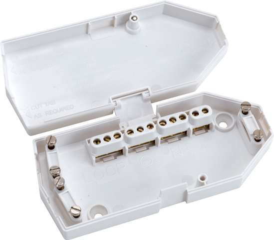 Hager J501 Downlighter Junction Box, 16A, White