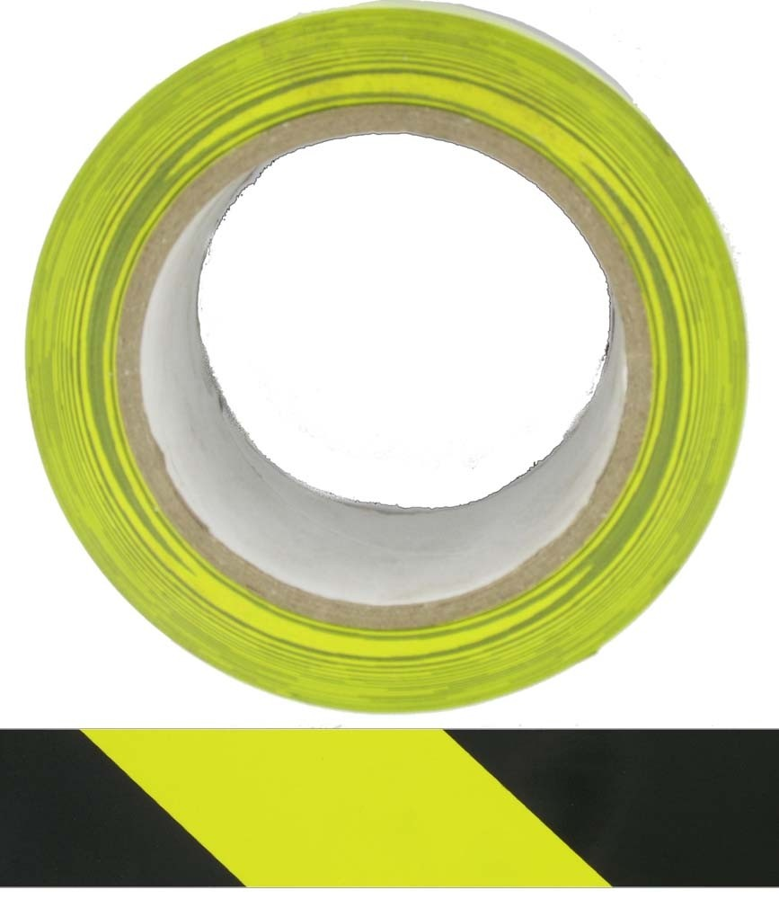 HTY HAZARD TAPE YELLOW / BLACK- ADHESIVE 50MM x 33M - Buy online or in store from John Cribb & Sons Ltd
