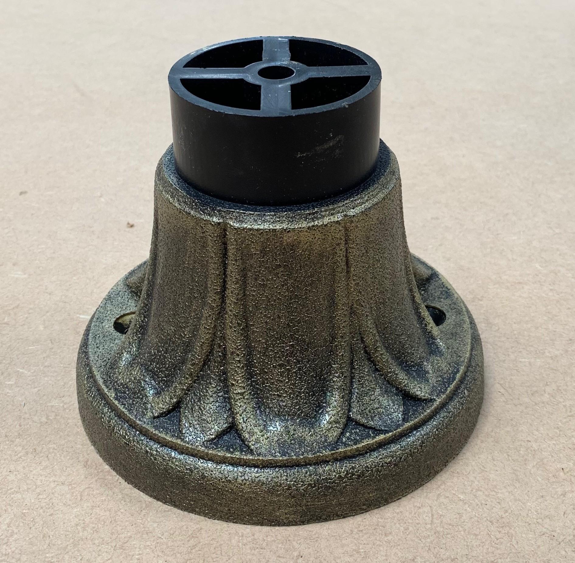 Fumagalli 110B Pedestal 107mm in Antique Brass