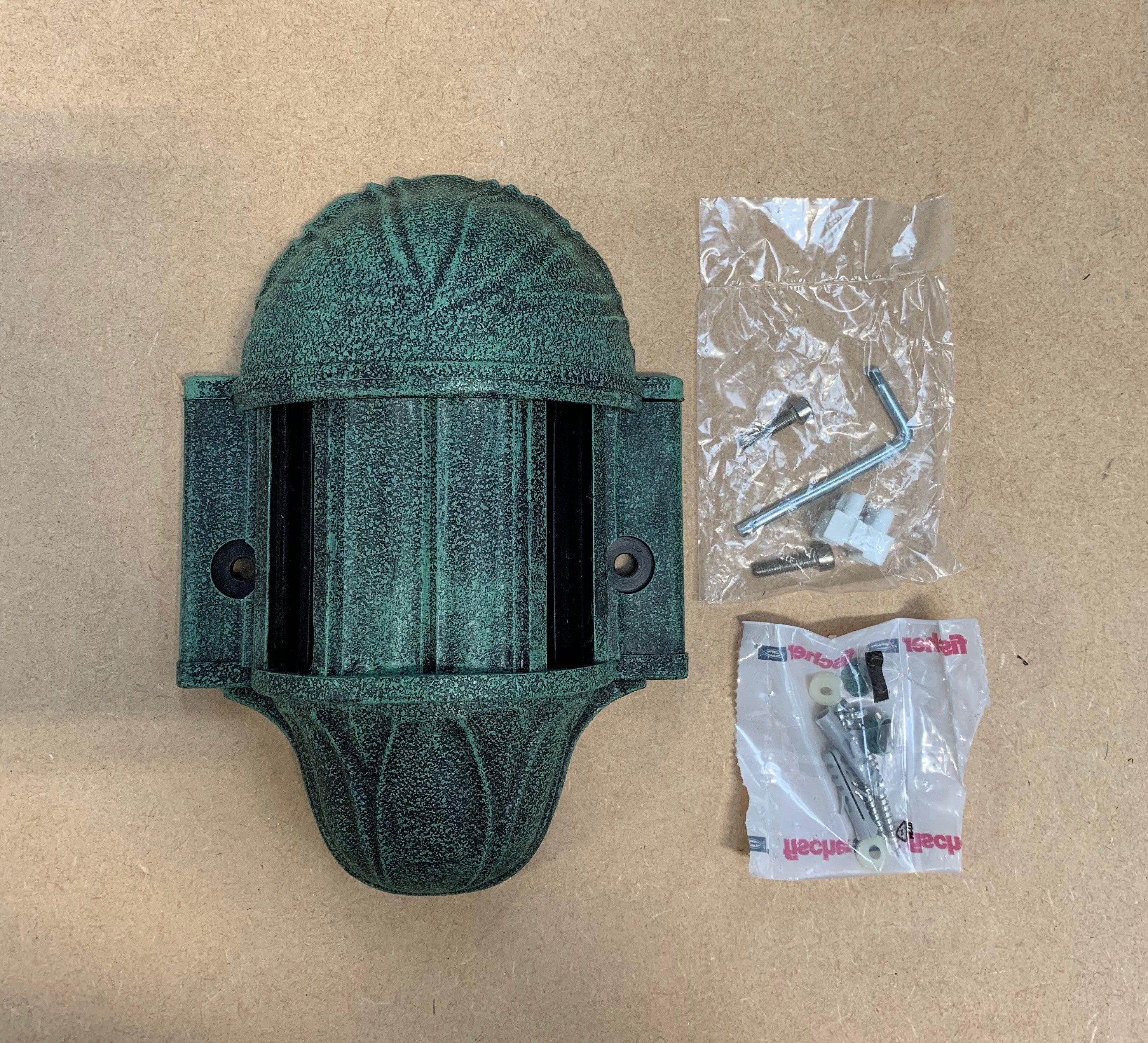 Fumagalli 141G Double Wall Connector Bracket in Antique Green