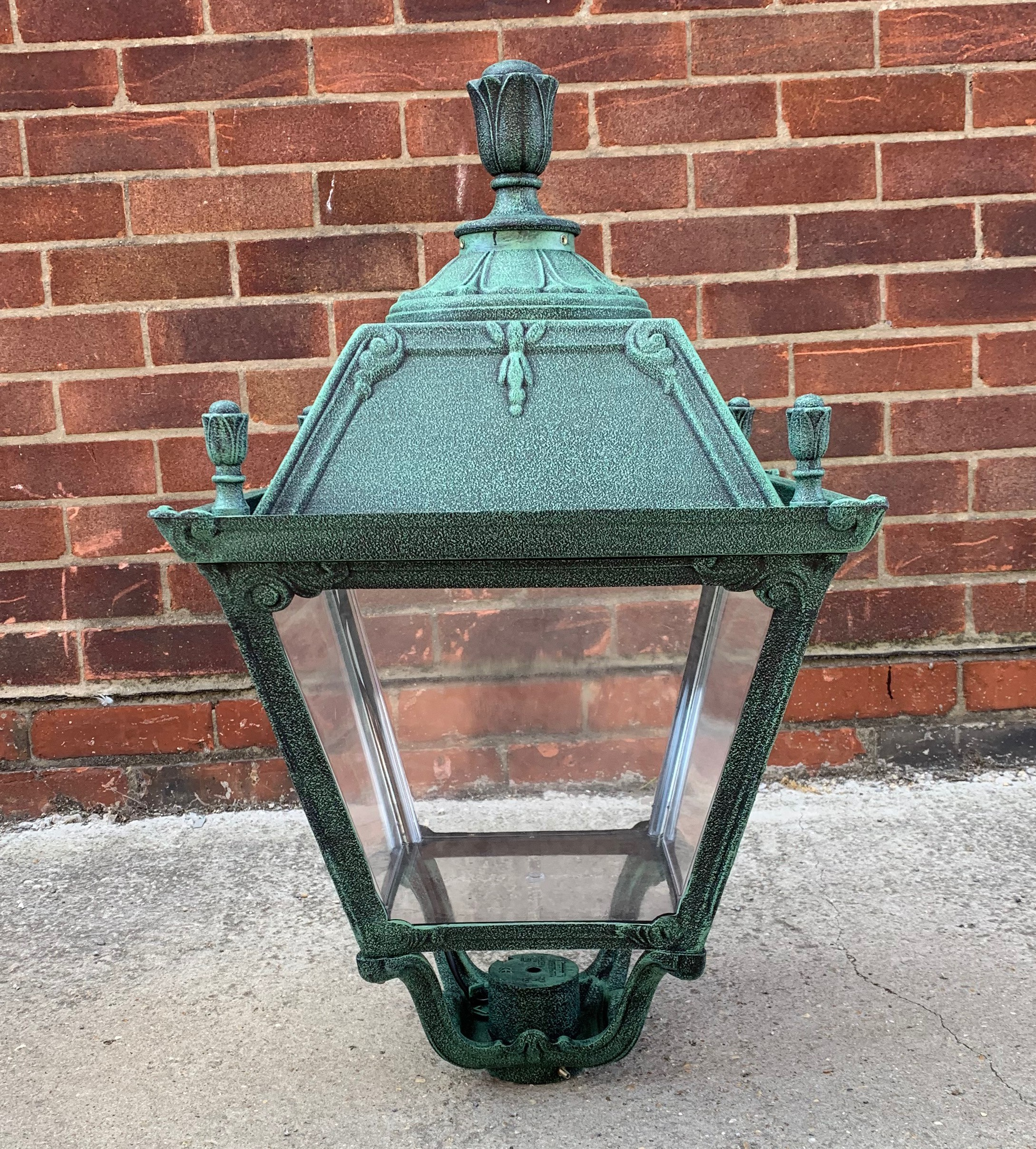 Fumagalli Q43 Large Roma Lantern in Antique Green (Head Only) - Buy online or in store from John Cribb & Sons Ltd