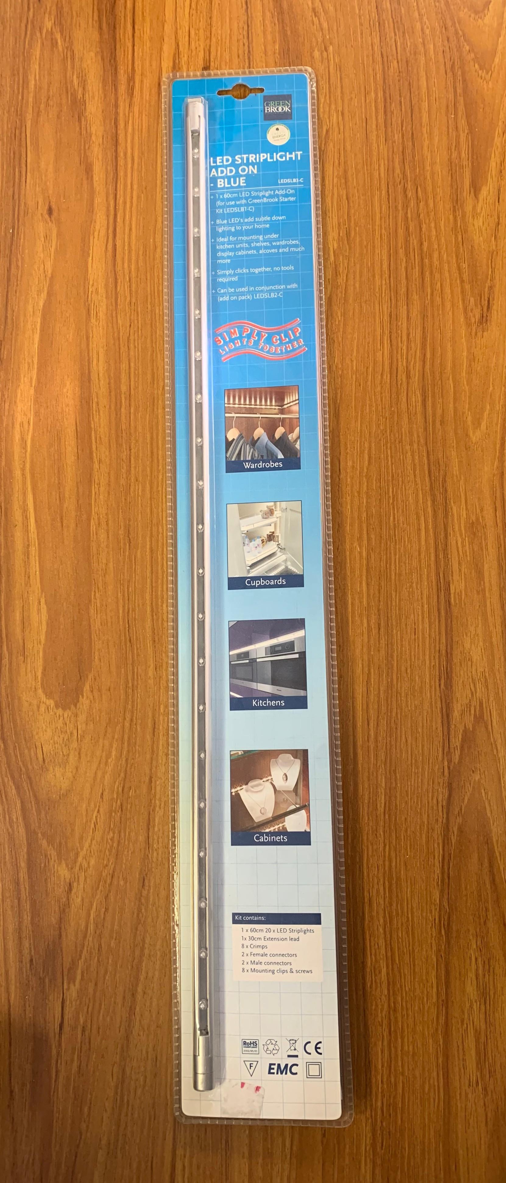 GreenBrook LEDSLB3-C LED Striplight Add On- Blue - Buy online or in store from John Cribb & Sons Ltd