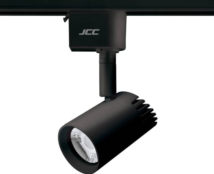 jcc jc14223blk starspot 600 mains dimmable ip20 track spotlight led
