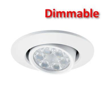 JCC JC94482WH Fireguard LED6 Mains IP20 6W Dimmable Downlight Tilt White 4000K