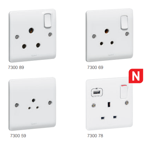 Legrand 730078 Synergy 13A 1 Gang Switched USB Socket in White  - Buy online or in store from John Cribb & Sons Ltd