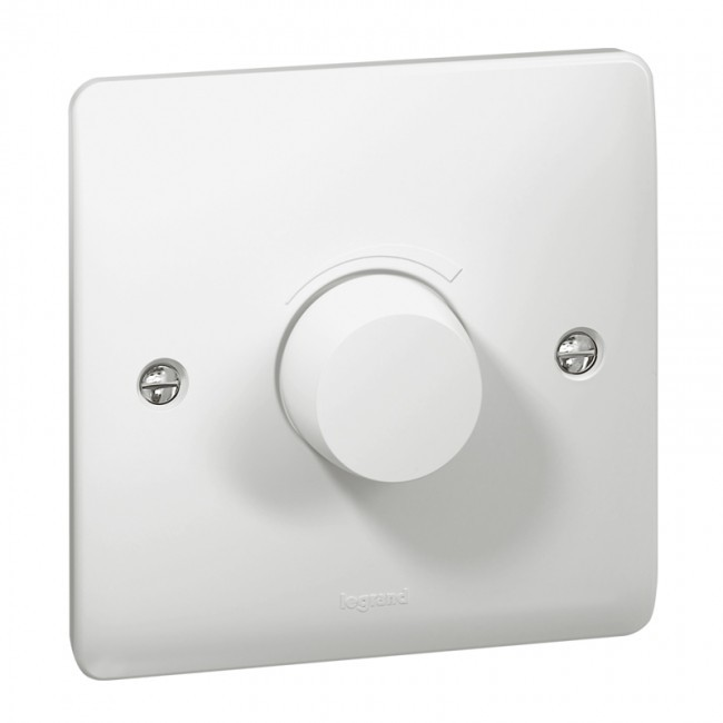 Legrand Synergy 731151 1 Gang Push On/Off Rotary Dimmer White