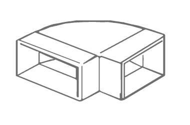 Manrose 1540,  225 x 25mm, Horizontal 90º Bend