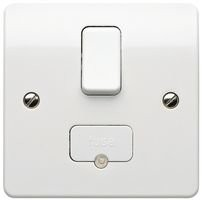 MK Logic K1040WHI DP Switched Fused Connection Unit