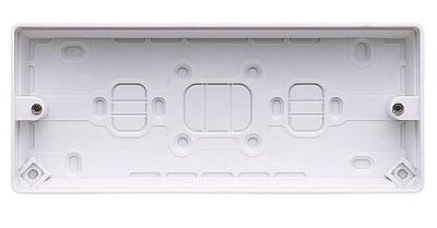MK Logic K2153WHI Box, 3 Gang Surface