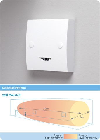 CP Electronics MWS1A-PRM Wall Mounted Microwave Presence Detector (MWS1A-PRM)