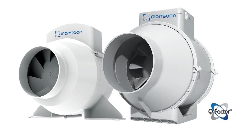 National Ventilation Monsoon UMD150 150mm Standard In-line Fan (552m³/h)