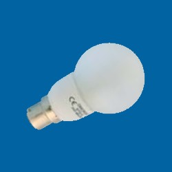 Omicron OMC9941 4W B22 Compact Fluorescent LampEnergy Saving T3 50mm Golfball 2700K (OMC9941)