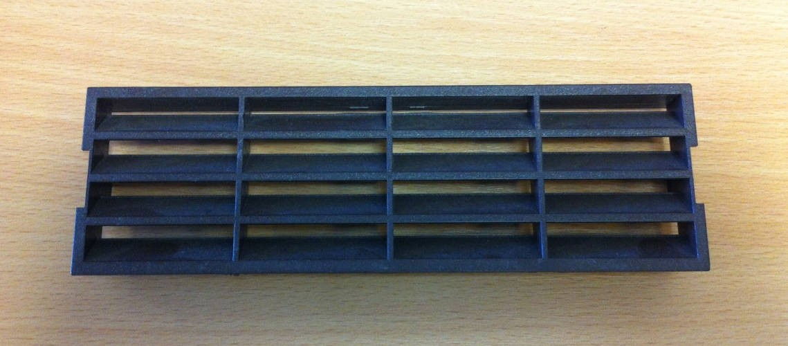 Polypipe 2316B Domus, Supertube, Rigid Duct, 204 x 60mm, Outlet Airbrick Fascia, Brown