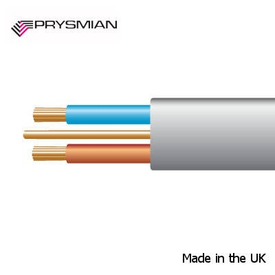 Prysmian 1.5mm² 6242YH Grey Made in UK BASEC approved