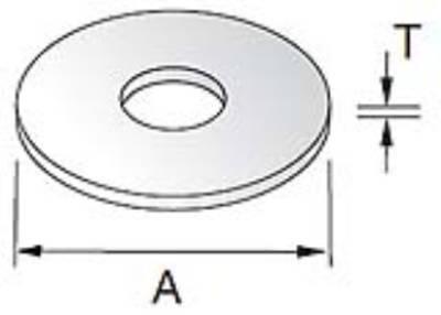 Unistrut Channel PYWM06X25 Washer, Penny, Size: M6x25mm
