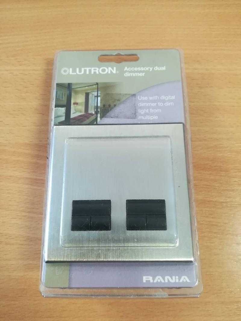 Lutron Rania RDDU-252B-FSN-M Dual Accessory Dimmer Satin Nickel