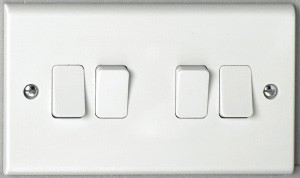 Deta S1244 4 gang 2 way 10A Plate Switch