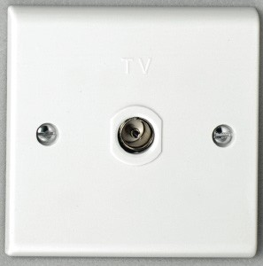 Deta S1264 Single Co-Axial Outlet - Isolated
