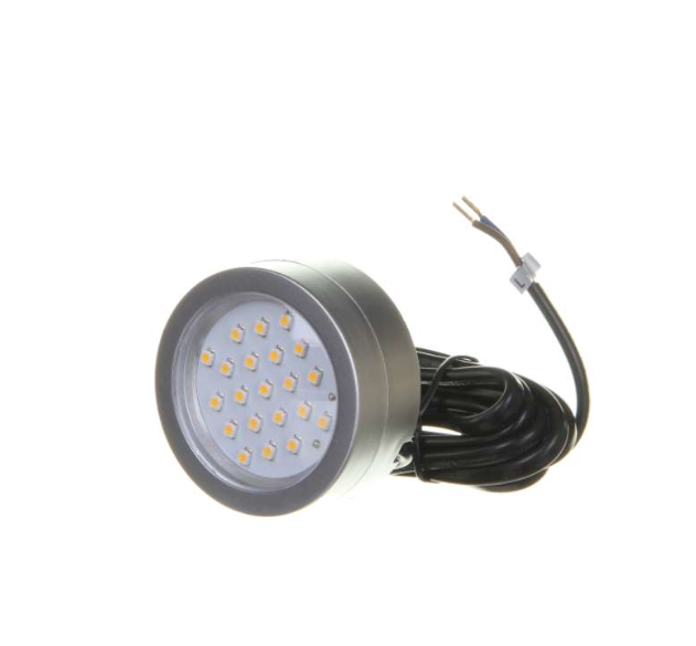 2 Watt 12 Volt Led Round Cabinet Light Fitting Kits Cool: Robus R2CLED240CW-15 2W Cool White Mains Voltage Circular